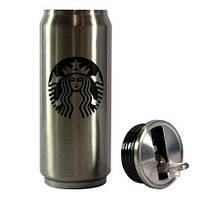 Термокружка металлическая для горячих и холодных напитков Starbucks PTKL-360, фото 5