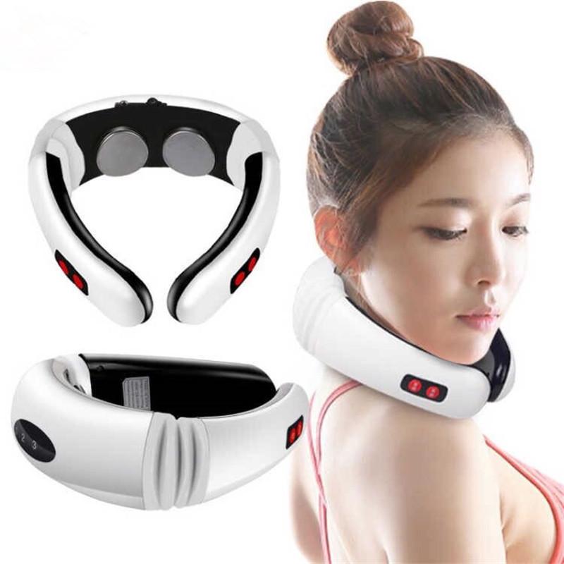 Электростимулятор массажер для шеи физиотерапия Cervical vertebra Neck Massager KL-5830