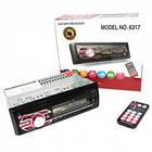 Автомобільна магнітола 1DIN MP3-6317 RGB панель + пульт управління   Автомагнітола, фото 4