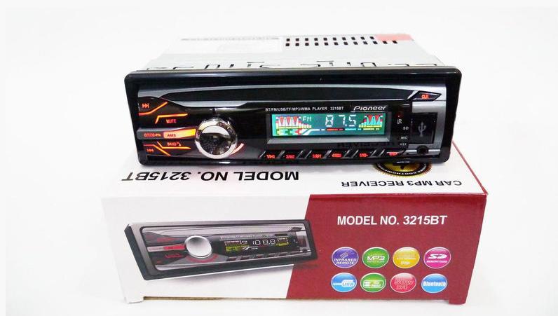 Автомобильная магнитола 1DIN MP3-3215BT Bluetooth | RGB панель + пульт управления | Автомагнитола