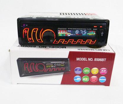 Автомобильная магнитола 1DIN MP3-8506BT RGB/Bluetooth + пульт управления | Автомагнитола