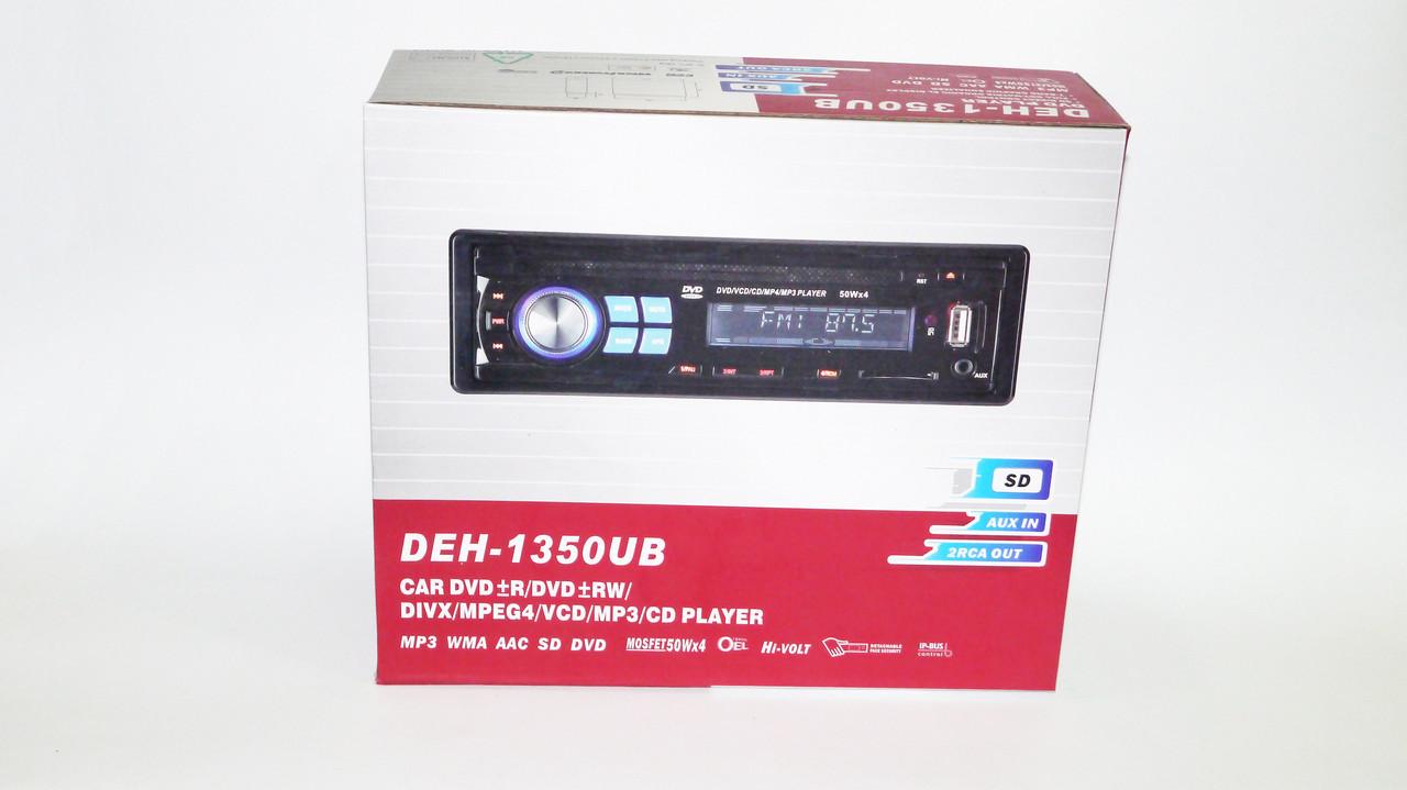 Автомобильная магнитола 1DIN DVD-1350 RGB панель + пульт управления   Автомагнитола