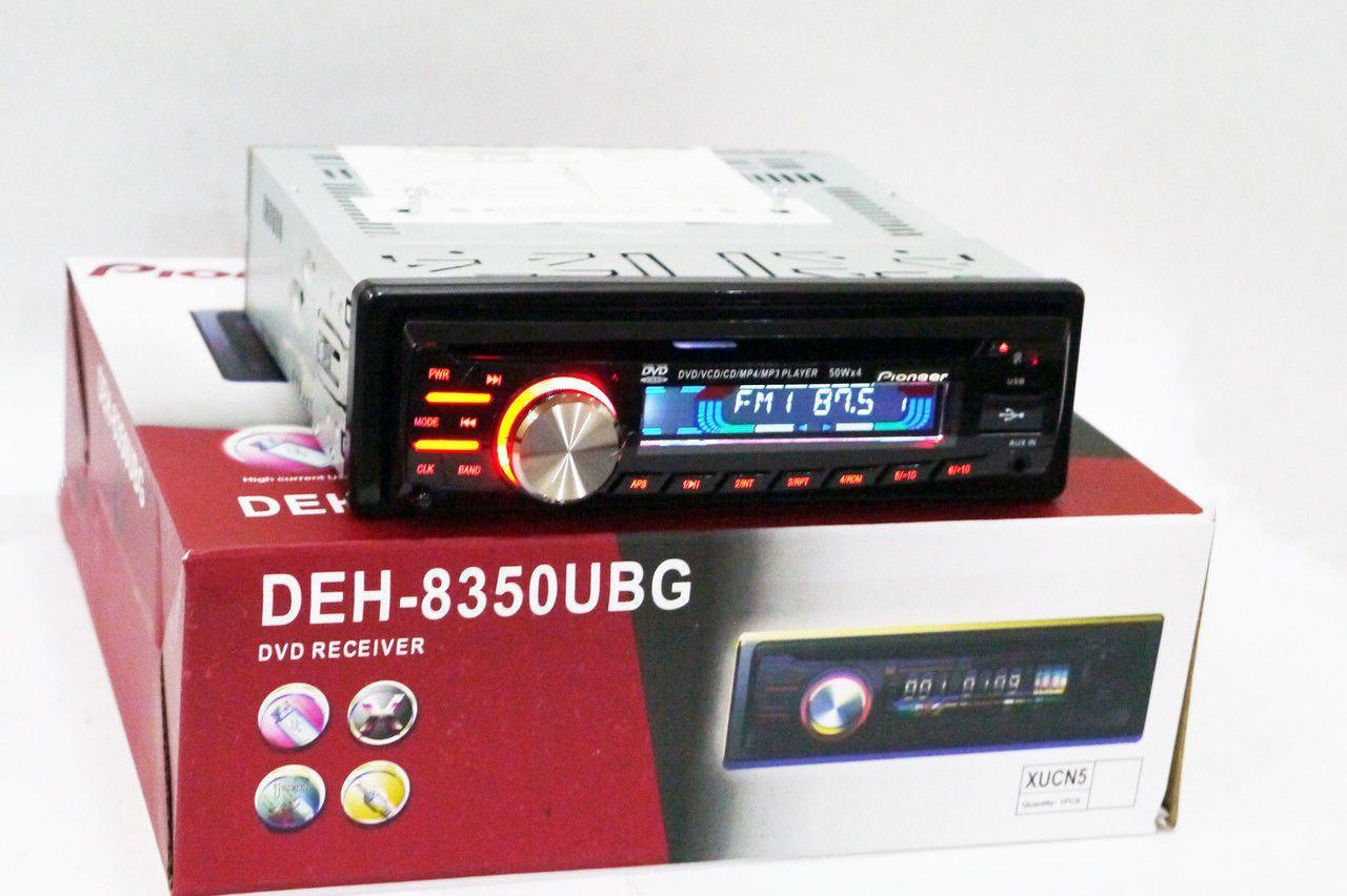 Автомобильная магнитола 1DIN DVD-8350 RGB панель + пульт управления   Автомагнитола