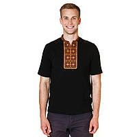 Мужская вышитая футболка с коротким рукавом