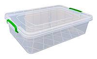 """Харчової контейнер із засувками 13л літрів плоский """"Горизонт"""""""