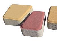 "Тротуарная плитка ""Римский камень""  Стандарт УМБР синий на белом цементе, 60 мм"