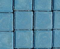 "Тротуарная плитка  ""Квадрат""  Стандарт УМБР 40мм, синяя на белом цементе"