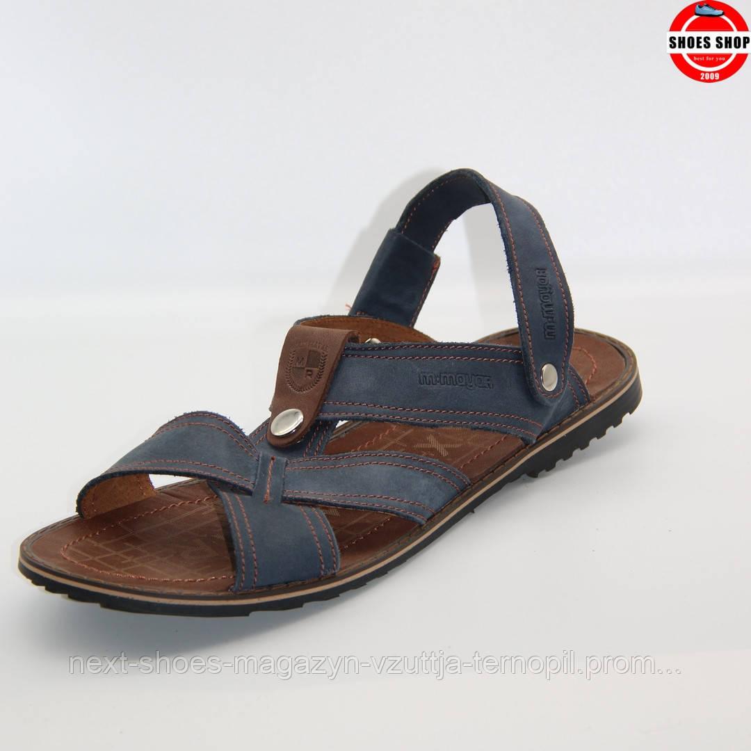 Чоловічі сандалі MAX MAYAR (Україна) синього кольору. Дуже зручні та стильні. Стиль - Девід Бекхем