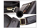 Мужская сумка через плечо POLO VIDENG   Черная, фото 9