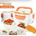 Ланч-бокс з функцією підігріву їжі від мережі Electric lunch box | Червоний, фото 2