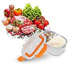 Ланч-бокс с функцией подогрева еды от сети Electric lunch box | Красный, фото 3