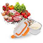 Ланч-бокс с функцией подогрева еды от сети Electric lunch box | Зеленый, фото 3