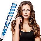 Спіральна плойка для завивки волосся Perfect Curl RZ118 | Стайлер для волосся | Синя, фото 2