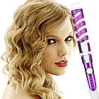Спіральна плойка для завивки волосся Perfect Curl RZ118 | Стайлер для волосся | Синя, фото 9