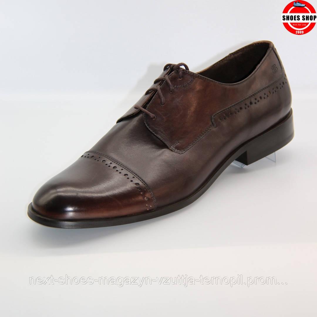Чоловічі броги Badura (Польща) коричневого кольору. Зручні та красиві. Стиль - Роберт Паттінсон