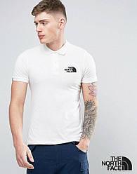 Мужское поло The North Face белого цвета (люкс копия)
