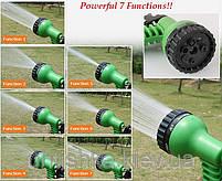 Шланг садовый поливочный X-hose 7.5 метров | Шланг с Водораспылителем | Синий, фото 10
