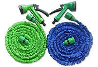 Шланг садовый поливочный X-hose 15 метров | Шланг с Водораспылителем | Синий, фото 6