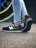 Брендові Жіночі Кросівки New Balance 574 чорні Якість Молодіжні Нью Бэлэнс репліка 36 37 38 39 40р, фото 2