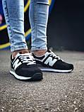Брендові Жіночі Кросівки New Balance 574 чорні Якість Молодіжні Нью Бэлэнс репліка 36 37 38 39 40р, фото 6