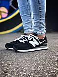 Брендові Жіночі Кросівки New Balance 574 чорні Якість Молодіжні Нью Бэлэнс репліка 36 37 38 39 40р, фото 10