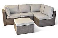 Модульний садовий диван-куток з штучного ротангу, фото 1