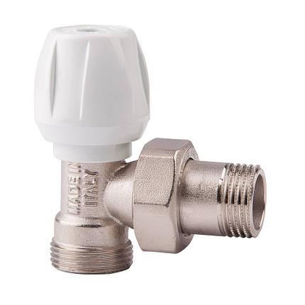 Угловой ручной вентиль простой регулировки 1/2 ICMA 804 (Италия), фото 2