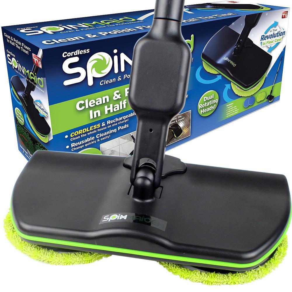 Электрическая беспроводная швабра Spin Maiden для уборки с насадками | Полировщик для уборки