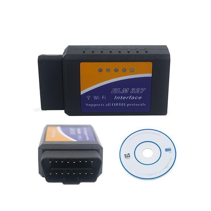 Диагностический OBD2 автосканер адаптер ELM327 Wifi v1.5 | Поддержка IOS и Android