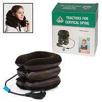 Надувная подушка воротник для шеи Tractors For Cervical Spine | Ортопедический лечебный воротник, фото 6