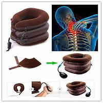 Надувная подушка воротник для шеи Tractors For Cervical Spine | Ортопедический лечебный воротник, фото 5