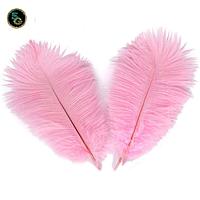 Перо страуса Декоративное Розовое 25-30см