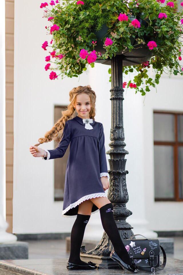 Платье(сарафан)школьное для девочки асимметрия 134,140,146,152