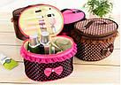 Тканевая косметичка Bow Storage Bag | Органайзер для косметики, фото 2