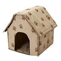 Переносной домик для собак Portable Dog House | Мягкая будка для собак
