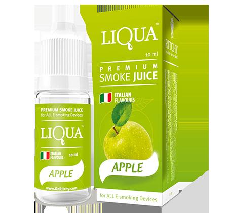Жидкость для электронных сигарет с никотином Liqua smoke juice Apple 10 ml