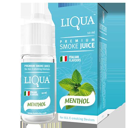 Жидкость для электронных сигарет с никотином Liqua smoke juice Menthol 10 ml