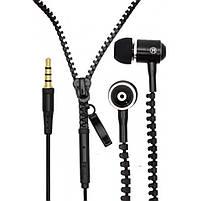 Наушники на молнии Zipper Earphones | Наушники гарнитура, фото 8