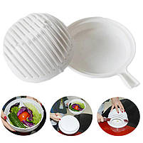 Овощерезка 2 в 1 Salad Cutter Bowl | Салатница | Чаша для нарезки овощей и салатов, фото 5