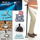 Складная трость с фонариком Trusty Cane | Палочка складная для ходьбы, фото 4