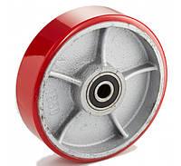 Колесо 200x50 чугун/полиуретан, ступица 50 мм, нагрузка 500 кг