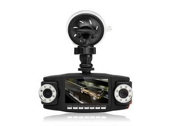 Автомобильный видеорегистратор Double 3 в 1 2 камеры + GPS   Регистратор в машину
