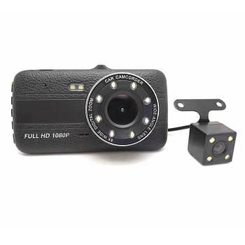 Автомобильный видеорегистратор DVR CT520 на 2 камеры   Регистратор в машину