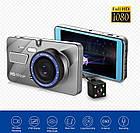 Автомобільний відеореєстратор DVR V2 2 камери | Реєстратор машину, фото 3