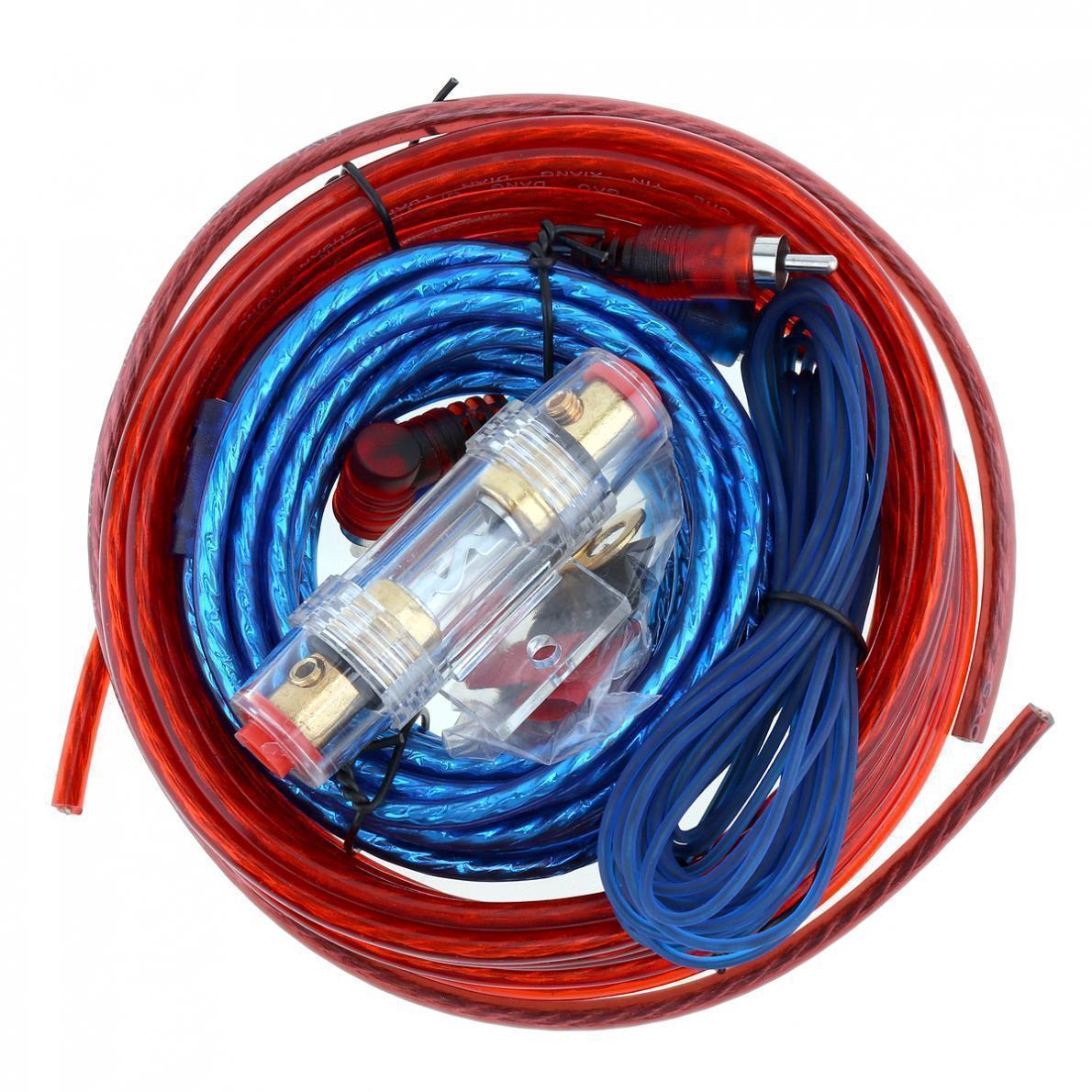 Комплект проводів для сабвуфера SX8GA   Дроти для підключення підсилювача для сабвуфера