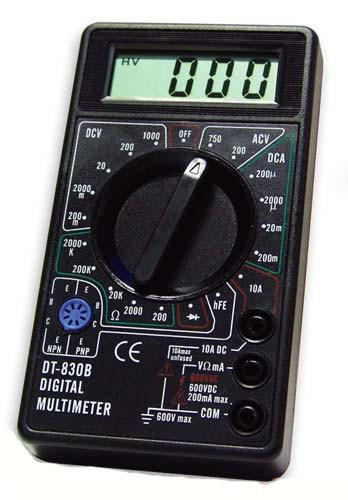 Мультиметр тестер с защитой от перегрузок DT 830B