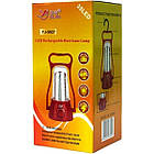 Светодиодный аккумуляторный фонарь лампа для кемпинга YJ 5827, фото 4