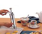 Кондитерський шприц прес для печива з насадками Biscuits А70, фото 3