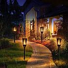 Уличный фонарь на солнечной панели TIKI Light | Садовый фонарь с эффектом живого огня, фото 2