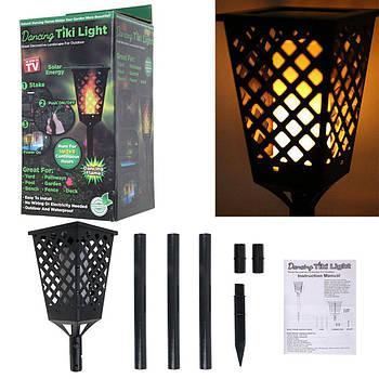 Уличный фонарь на солнечной панели TIKI Light | Садовый фонарь с эффектом живого огня